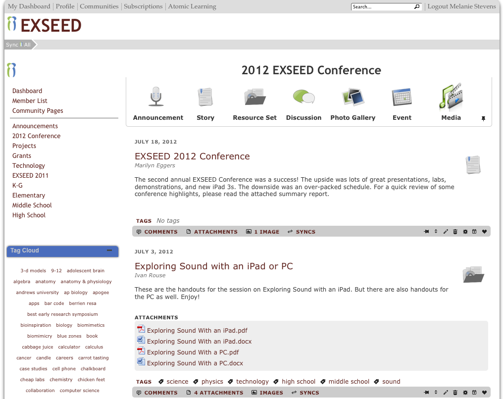 EXSEED Portal Screenshot