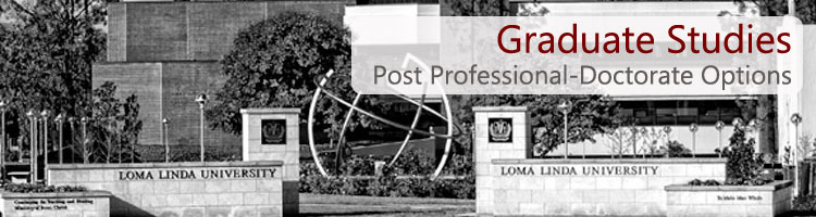 Homepage for the Post-Graduate Programs for the School of Allied Health Professions which offers various allied health degrees with a Christian emphasis.