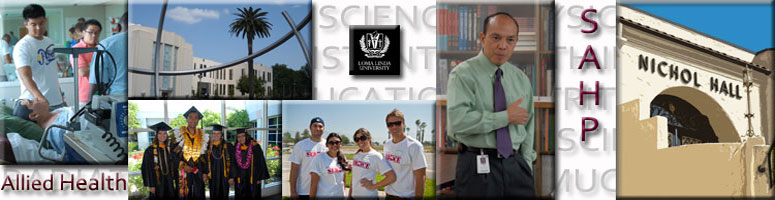 School information and mission for the Loma Linda University School of Allied Health Professions, which offers a Christian, Adventist education in a variety of allied health related professional programs
