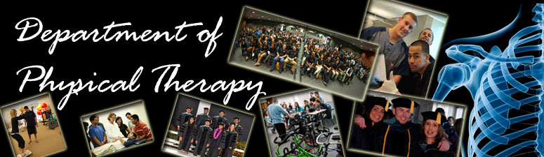 Programs in the Physical Therapy Department at Loma Linda University School of Allied Health Professions.
