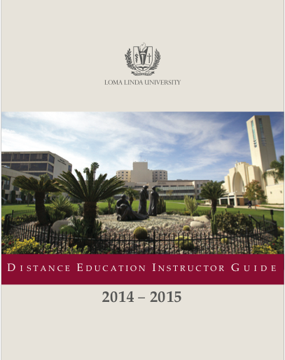 Distance Education Instructor Guide