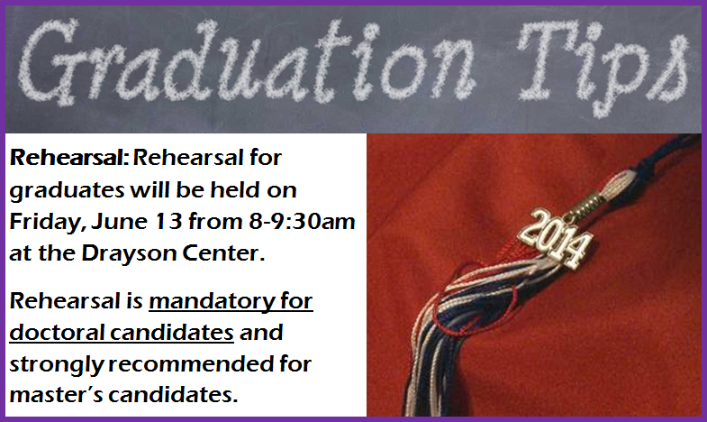Graduation Tip - Week 4 - Rehearsal