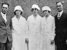 Nutrition student uniforms in the 1920's.
