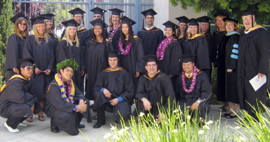 Students in the AS, BS, and MS programs participate in graduation ceremonies in June.