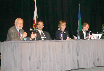 Speakers update the audience on the state of health care during the 2006 American Health Care Congress.
