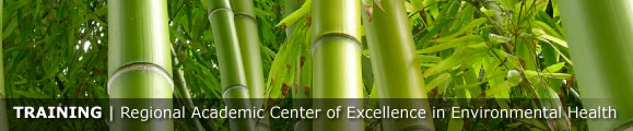 Training --- Regional Academic Center of Excellence in Environmental Health