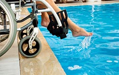 wheelchair access for the Drayson Center pool